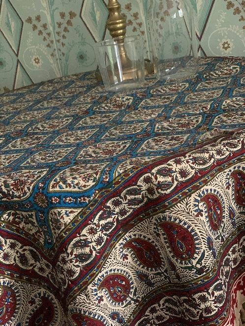 Hand Blocked table cloth