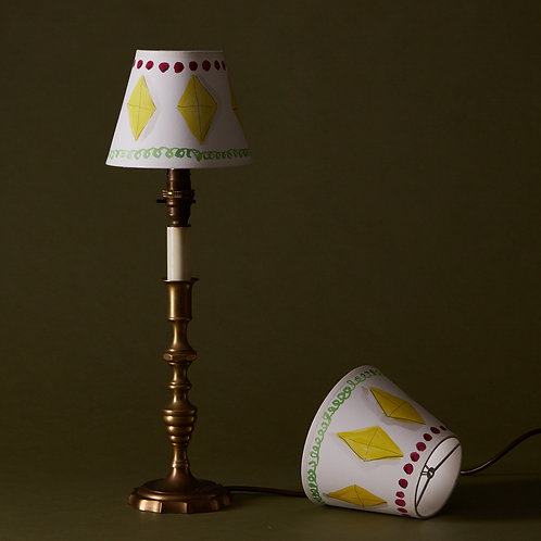 Diamonds are for ever Hand painted clip on Lampshades