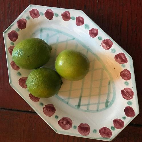 Red spot platter