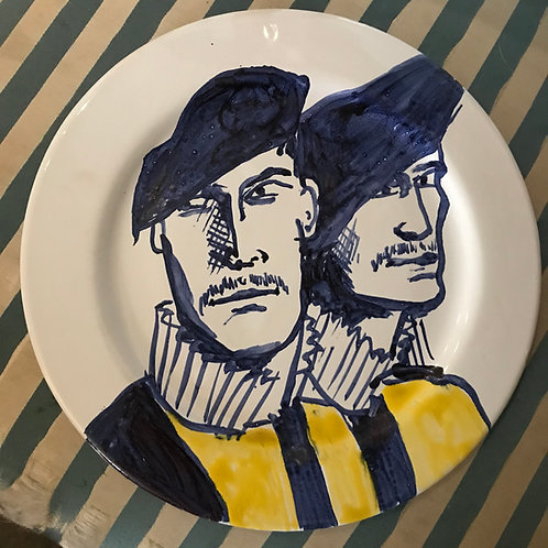 Marco and his friend the Vatican Guards plate