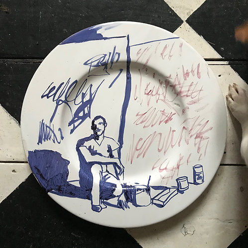 Cy Twombly large plate