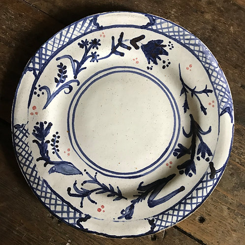 The Blue and White dinner plate