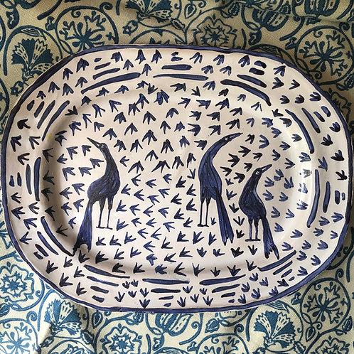 Blue Bird Platter