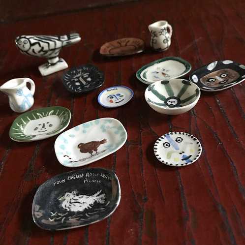 Mini 13 piece Picasso inspired collection of ceramics
