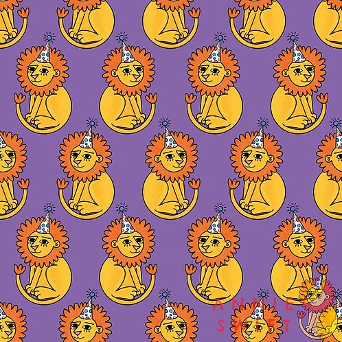 Party Lion - Non-Exclusive Seamless Design