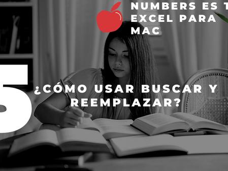 NUMBERS mac TUTORIAL español | BUSCAR y reemplazar como en EXCEL