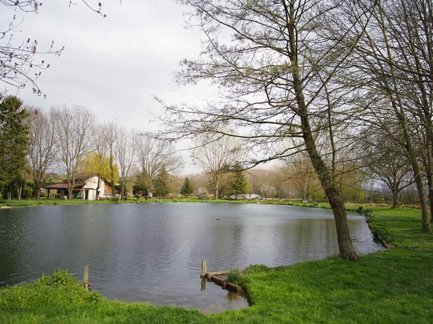 Photo parcours de pêche des fontaines plan d'eau
