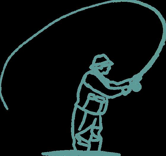 Pêcheur à la mouche parcours des fontaines