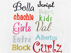 font styles fo names