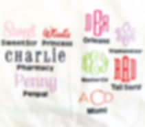 font styles for names and monograms