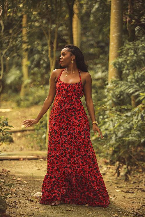 EFFIA African Print Maxi Dress