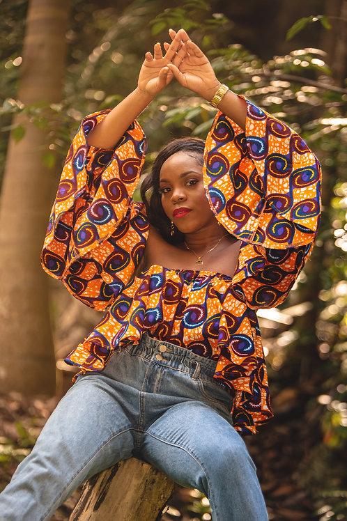 EKUWA African Print Top