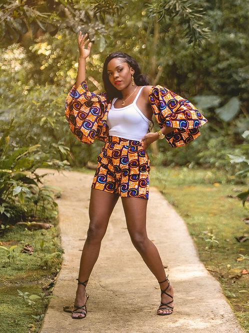 HANIAH African Print Shorts