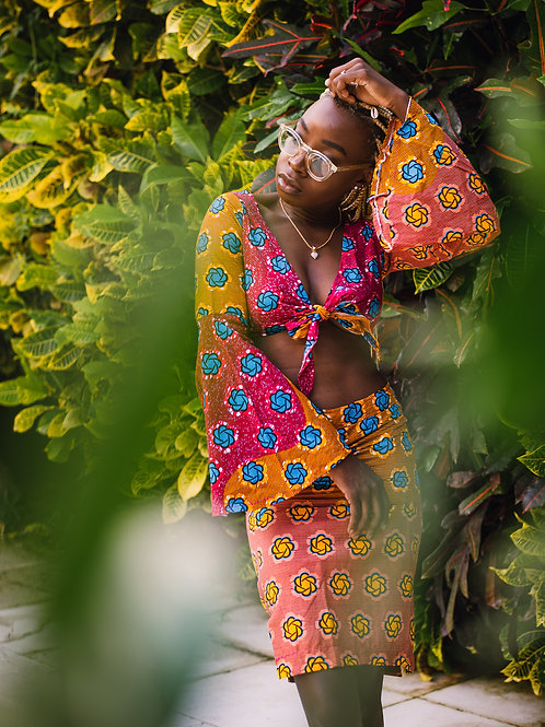 KIRA African Print Pencil Skirt