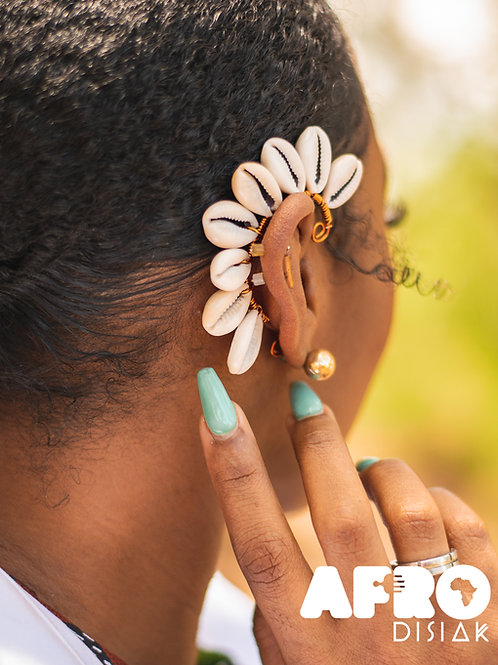 Cowrie Shell Ear Cuffs