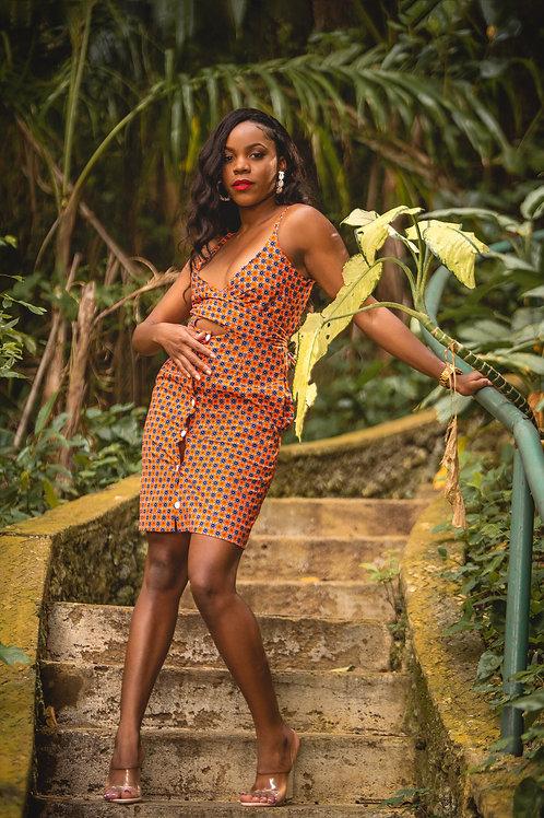 TEMI African Print Dress