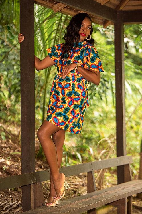 ZOYA African Print Dress