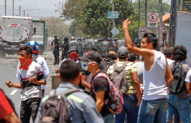 A common sight in today's Nicaragua. The city of Massaya has been one of the hardest hit. Photo: Euronews