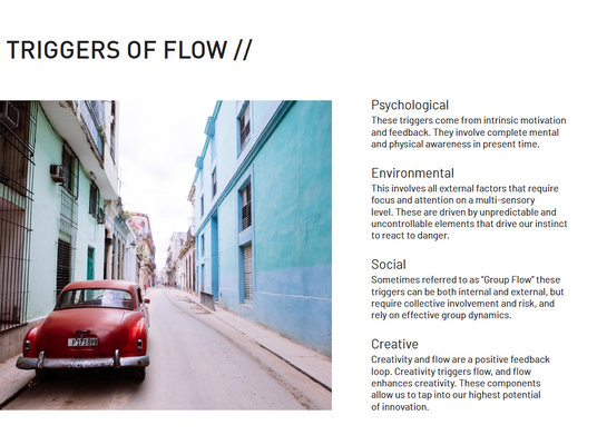 Triggers of Flow