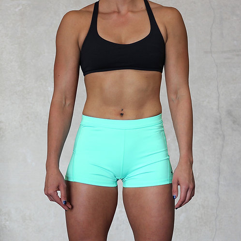 "KNOXXFIT WOMEN'S TRAINING SHORTS ""SHORTY"" Green"