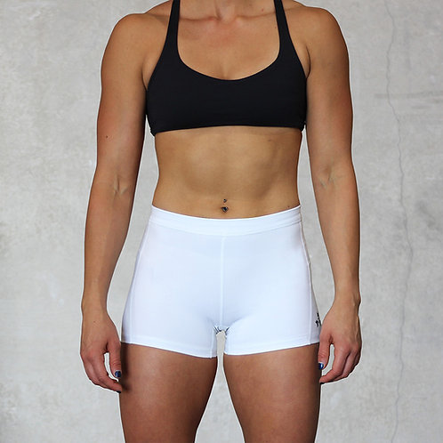 "KNOXXFIT WOMEN'S TRAINING SHORTS ""SHORTY"" White"