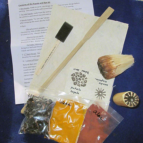 Kapala Hawaiian Stamp and Dye Kit