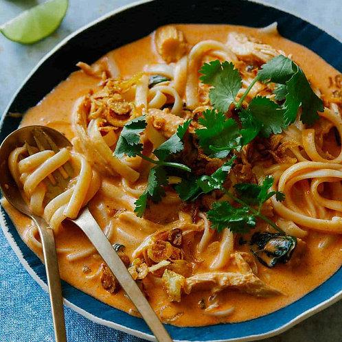 Red Thai Curry Chicken met Noedels