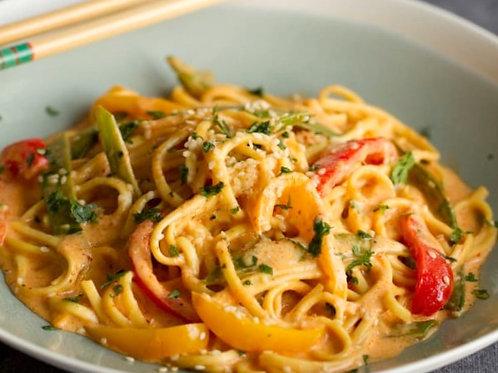 Thai Curry Veggie met Noedels