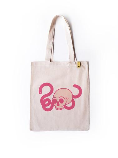 Skull, Pop, Snake Tote Bag