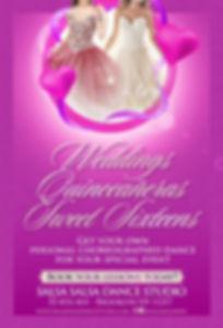 Weddings and Sweet sixteens brochure