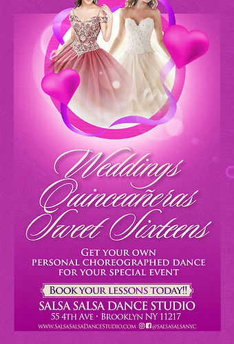 Weddings and Sweet sixteens brochure