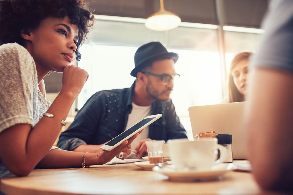 Digital marketing meeting