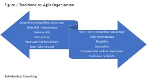 Traditional and Agile organization comparision