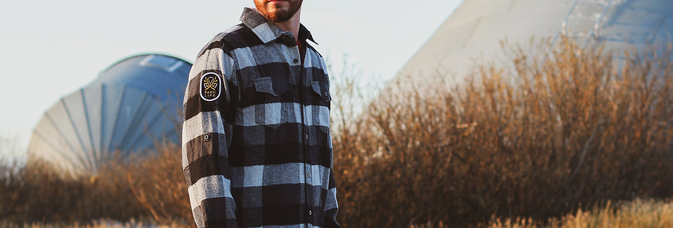 Woven Black Plaid Flannel