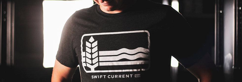 Retro Swift Current Logo - Charcoal