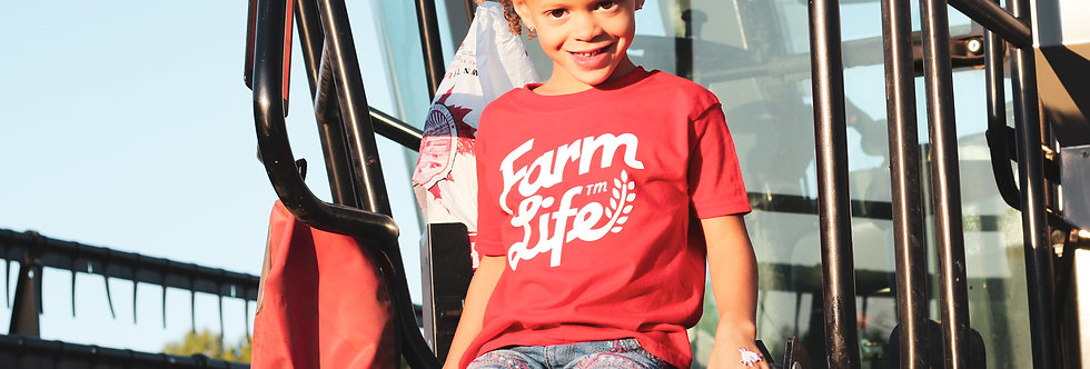 Retro Farm Life Toddler - Red