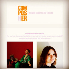 Recently Aurélie was featured in the first Women Composers' Forum Composer Spotlight.