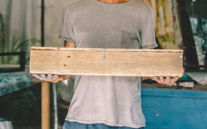 hanging  wood box handmade johny surf ar
