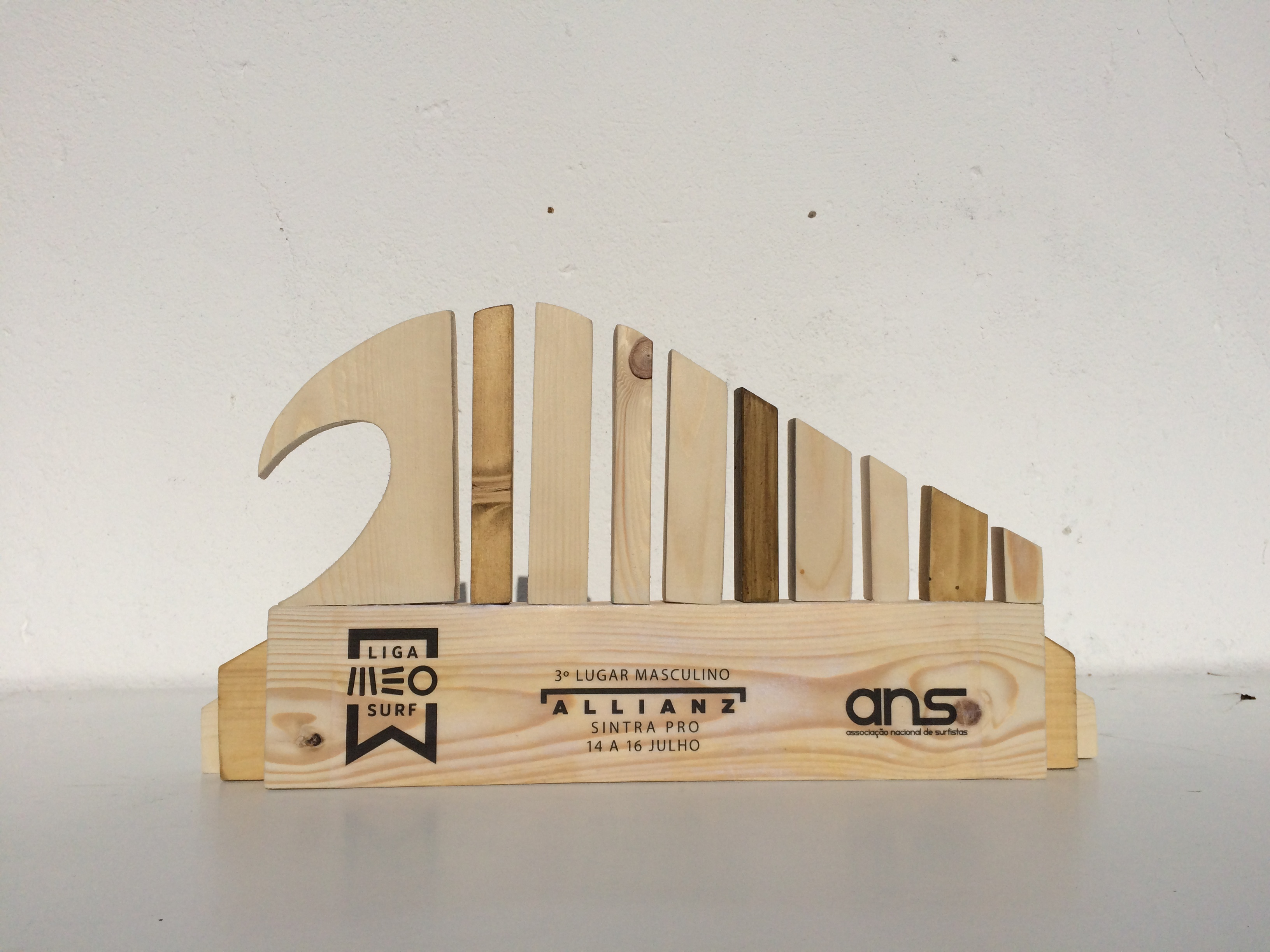 Wood trophy for one of the events