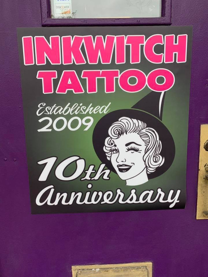 Inkwitch Tattoo Celebrates 10th Anniversary!