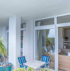 Your private patio in the Garden Suite