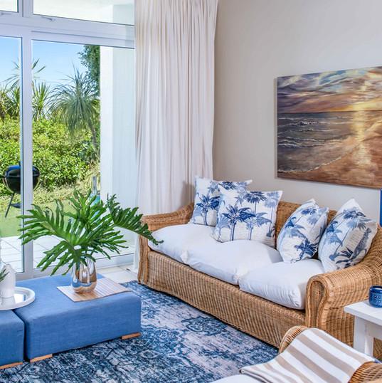 Open plan lounge in Garden Suite