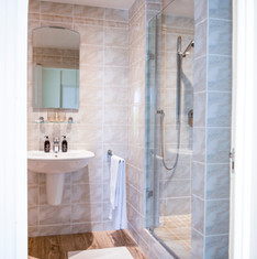 Small shower in Luxury Apartment