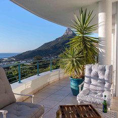 Relax on your private balcony in the Lux