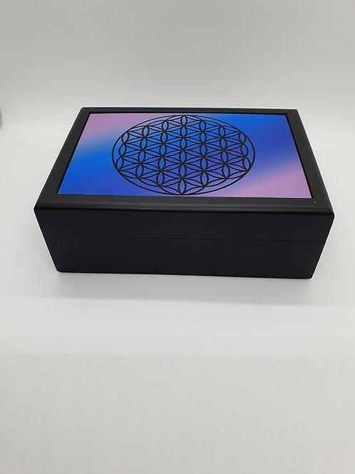 Caja decorada con Flor de la vida