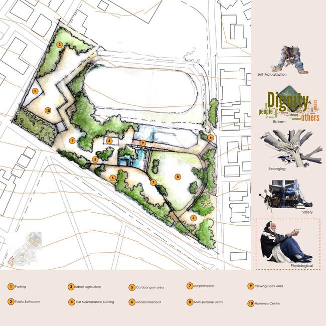 Lower DeWaal Park Landscape Sketch Plan