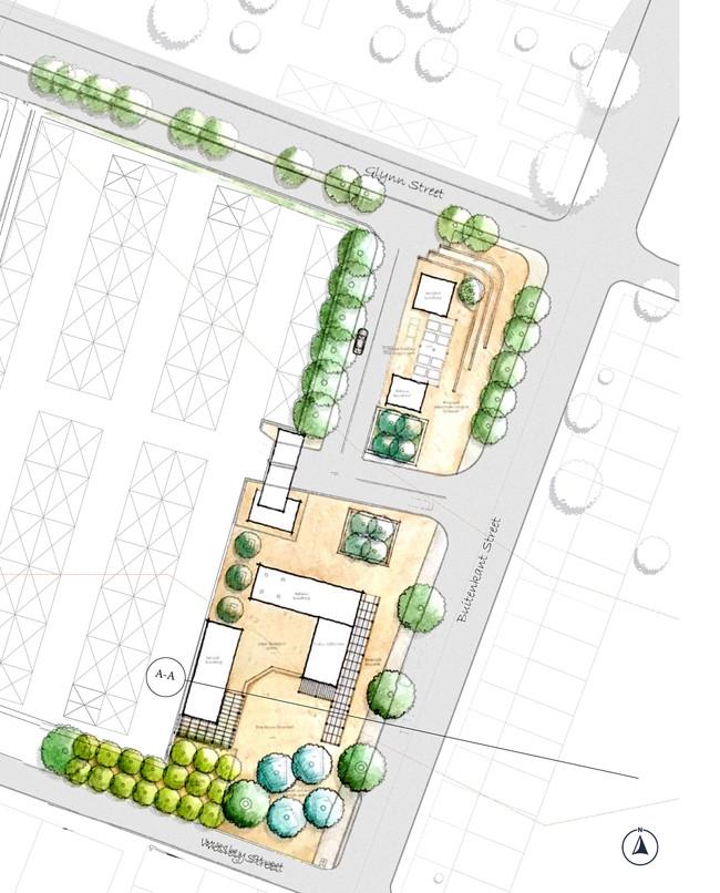 Government Parking Landscape Sketch Plan
