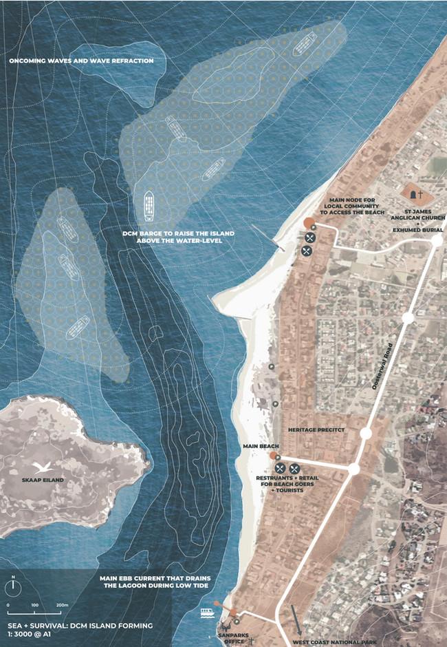 Creating a Supratidal Sandbar through DCM