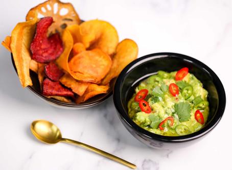 Noble House At Home Recipes – Smashed Avocado & Home-made Vegetable Crisps