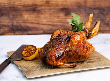 Noble House At Home Recipes - Honey & Miso Butter Whole Roast Chicken